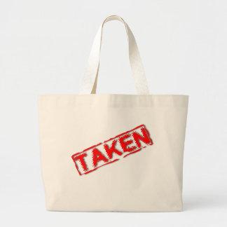 Bolso tomado bolsa tela grande
