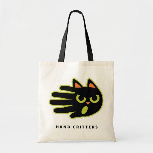 Bolso trastornado del gato bolsa lienzo