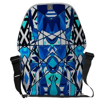 Bolso tribal abstracto geométrico del ordenador bolsas de mensajeria