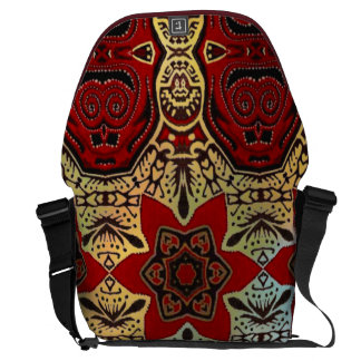 Bolso tribal del ordenador portátil de la forma de bolsa de mensajería