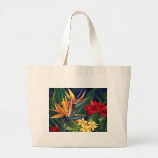 Bolso tropical de la playa del paraíso bolsas de mano