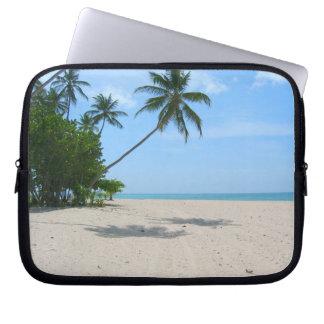 Bolso tropical del ordenador portátil de la playa  funda computadora