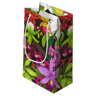 Bolso tropical del regalo del jardín de flores de bolsa de regalo pequeña