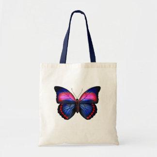 Bolso tropical exótico de la mariposa bolsas lienzo