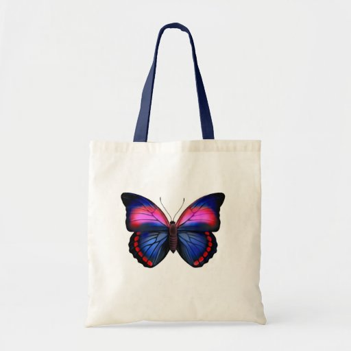 Bolso tropical exótico de la mariposa bolsa tela barata