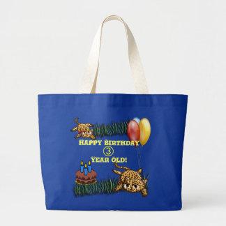 Bolso ultra lindo del cumpleaños del safari del bolsa tela grande