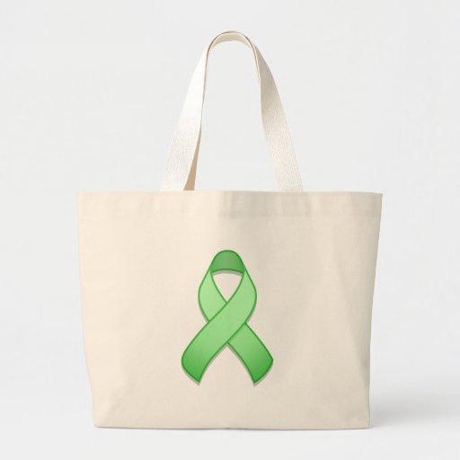 Bolso verde claro de la cinta de la conciencia bolsa
