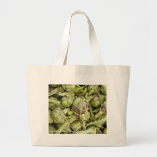 Bolso verde de la alcachofa bolsa tela grande