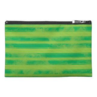 Bolso verde de la raya de la acuarela