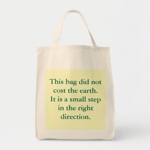 Bolso verde de las palabras bolsa tela para la compra