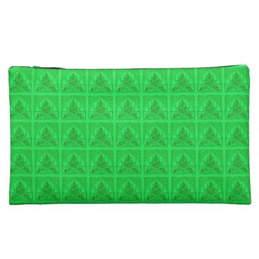 Bolso verde de neón retro de Bagettes de la hoja f
