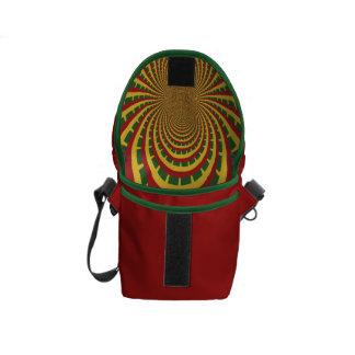 Bolso verde de oro rojo de Hakuna Matata Rasta Bolsas Messenger