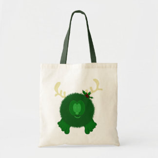 Bolso verde de Pom Pom PAL del reno Bolsa Tela Barata