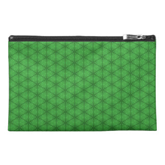 Bolso verde del accesorio del viaje del hexágono