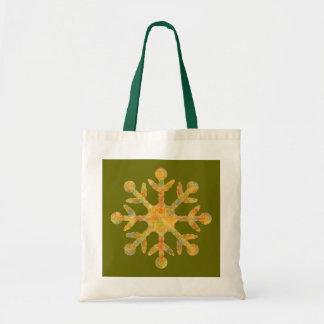 Bolso verde del copo de nieve bolsa