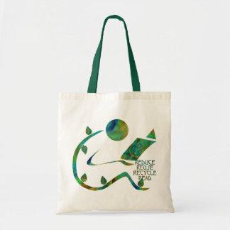 Bolso verde del lector 4R Bolsa Tela Barata