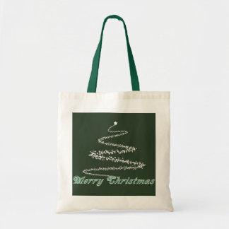 Bolso verde del navidad verde bolsas lienzo