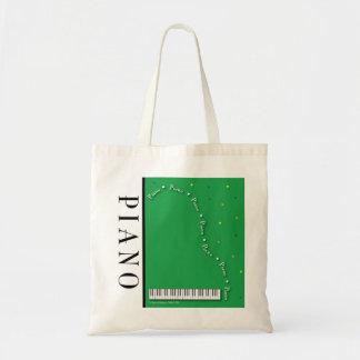 Bolso verde del piano de cola bolsa tela barata