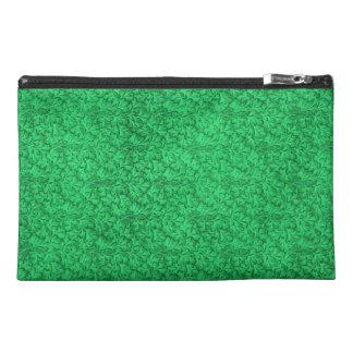 Bolso verde floral retro del accesorio del viaje