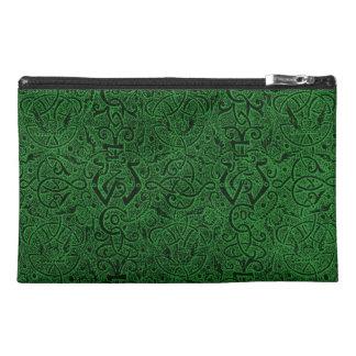 Bolso verde retro del accesorio del viaje de Baget