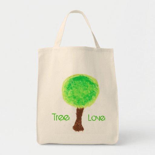 Bolso verde reutilizable de Eco del amor del árbol Bolsas Lienzo