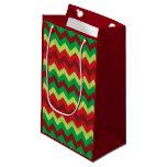 Bolso verde rojo del regalo del modelo del galón bolsa de regalo pequeña