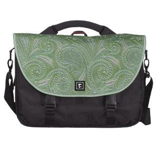 Bolso verde y de plata hermoso del ordenador portá bolsas de portatil