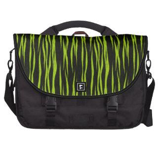 Bolso verde y negro del ordenador portátil del mod bolsas para portátil