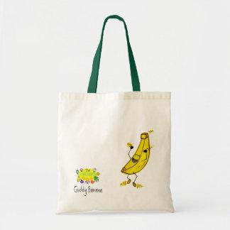 Bolso vertiginoso del plátano bolsa tela barata
