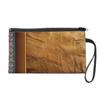 Bolso viejo de Bagettes del cuero y del cordón