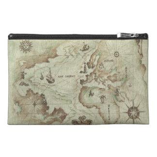 Bolso viejo del accesorio del viaje de Mapamundi