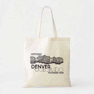 Bolso viejo histórico de la ciudad de Denver Color Bolsa Tela Barata
