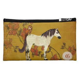 Bolso violeta del accesorio del viaje del caballo
