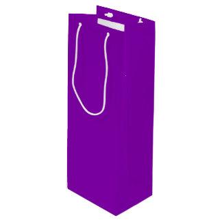 Bolso violeta del regalo del vino bolsa de regalo para vino