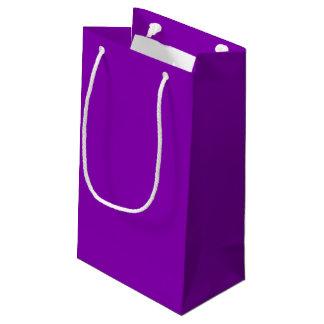 Bolso violeta del regalo - pequeño, brillante bolsa de regalo pequeña