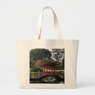bolso vivo de la pagoda del zen bolsa tela grande