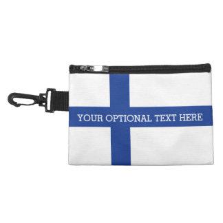 Bolsos accesorios de encargo de la bandera finland