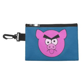 Bolsos accesorios de encargo del cerdo enojado