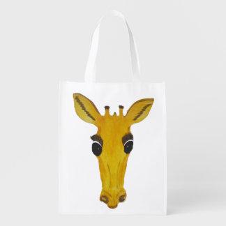 Bolsos amarillos grandes de la cara de la jirafa bolsa para la compra