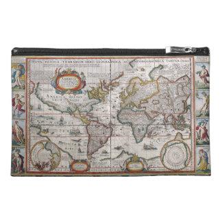 Bolsos antiguos del accesorio del mapa del mundo