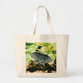 Bolsos blancos negros de la foto de la mariposa de bolsas de mano