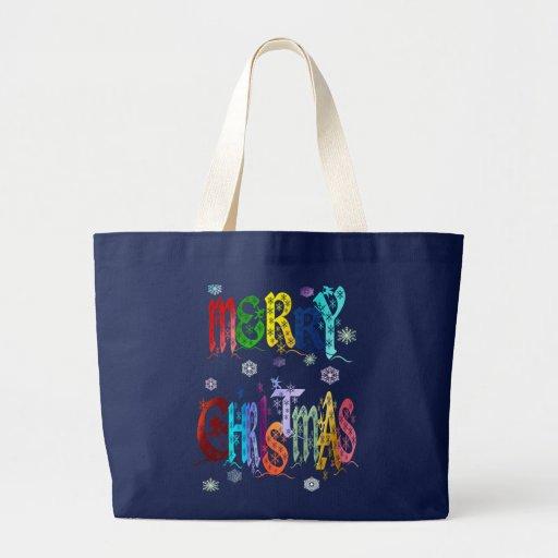 Bolsos coloridos de las Felices Navidad Bolsas