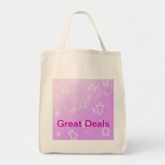Bolsos con las estrellas bolsa tela para la compra