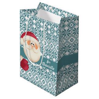 Bolsos conocidos del regalo del navidad del niño bolsa de regalo mediana
