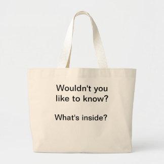 Bolsos coquetos bolsa tela grande