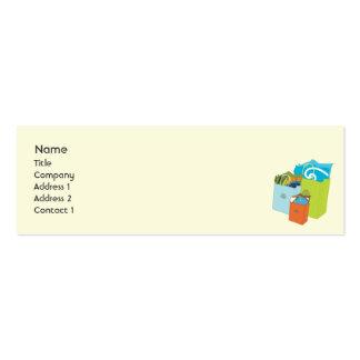 Bolsos de compras - flacos tarjetas de visita