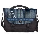 Bolsos de encargo rayados azules bolsas para portatil