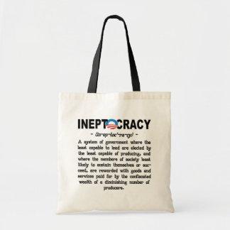 Bolsos de Ineptocracy Tote&Grocery de la administr Bolsa Tela Barata