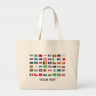 Bolsos de la bandera del mundo bolsa