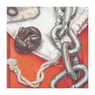 Bolsos de la impresión oxidada del arte del lápiz impresiones en lona estiradas